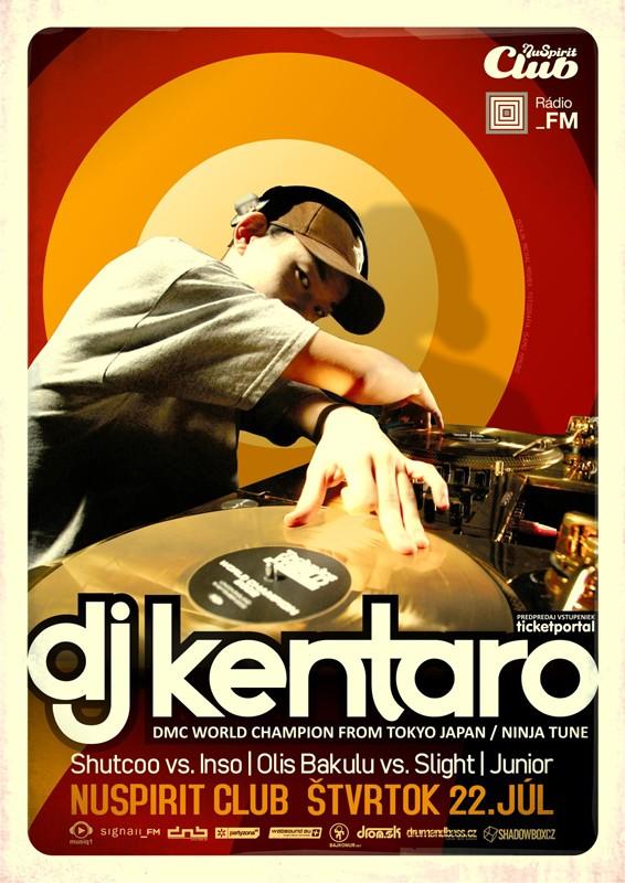 NuSpirit prináša Ninja Tune's the one and only DJ Kentaro BOMBING