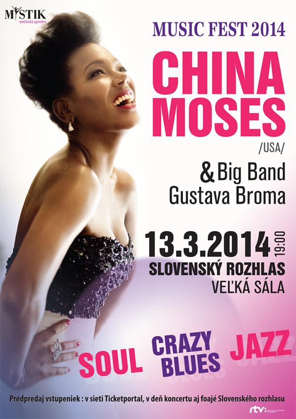 Charizmatická China Moses a Big band Gustava Broma vystúpia už vo štvrtok v Slovenskom rozhlase BOMBING 2