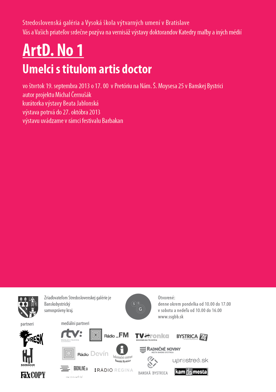Festival Barbakan predstaví na výstave ArtD. No1 tvorbu umelcov s titulom artis doctor  BOMBING 1