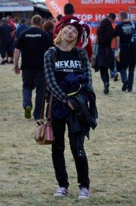 Fanúšička kapely Iné Kafe / Foto: Adel Michnová