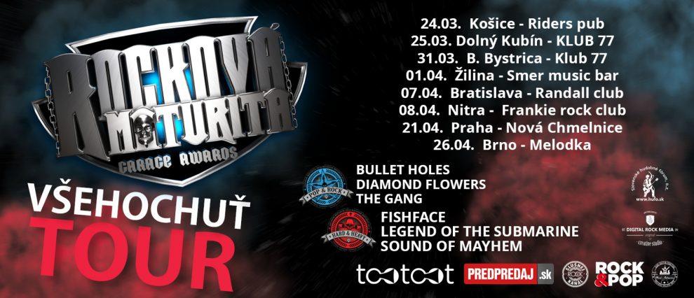 Diamond Flowers a Legend of the Submaríne – kapely zo strieborných priečok Rockovej maturity II., budú žánrovým a hudobným stredobodom VŠEHOCHUŤ TOUR 2017. BOMBING