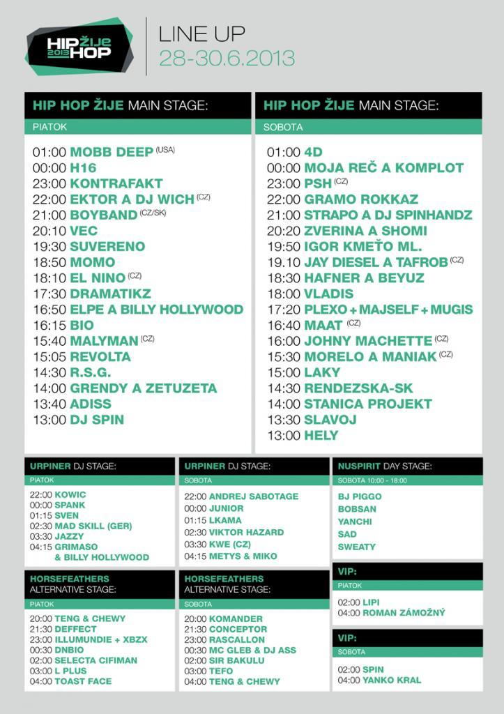Festival HIP HOP ŽIJE zverejňuje finálny line-up BOMBING
