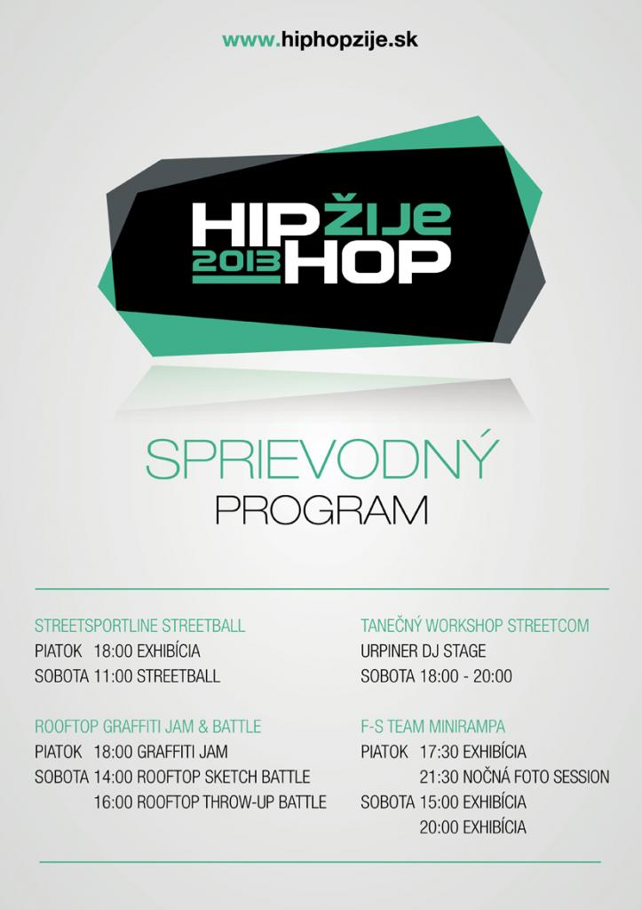 Na Hip Hop Žije bude aj Streetball, Graffiti, Tanečný Workshop a Minirampa! BOMBING
