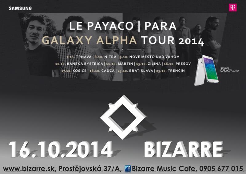 Para a Le Payaco idú na turné: Nenechajte si ujsť koncertnú lahôdku jesene BOMBING