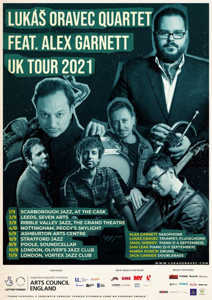 Lukas Oravec Quartet feat Alex Garnett UK Tour 2021