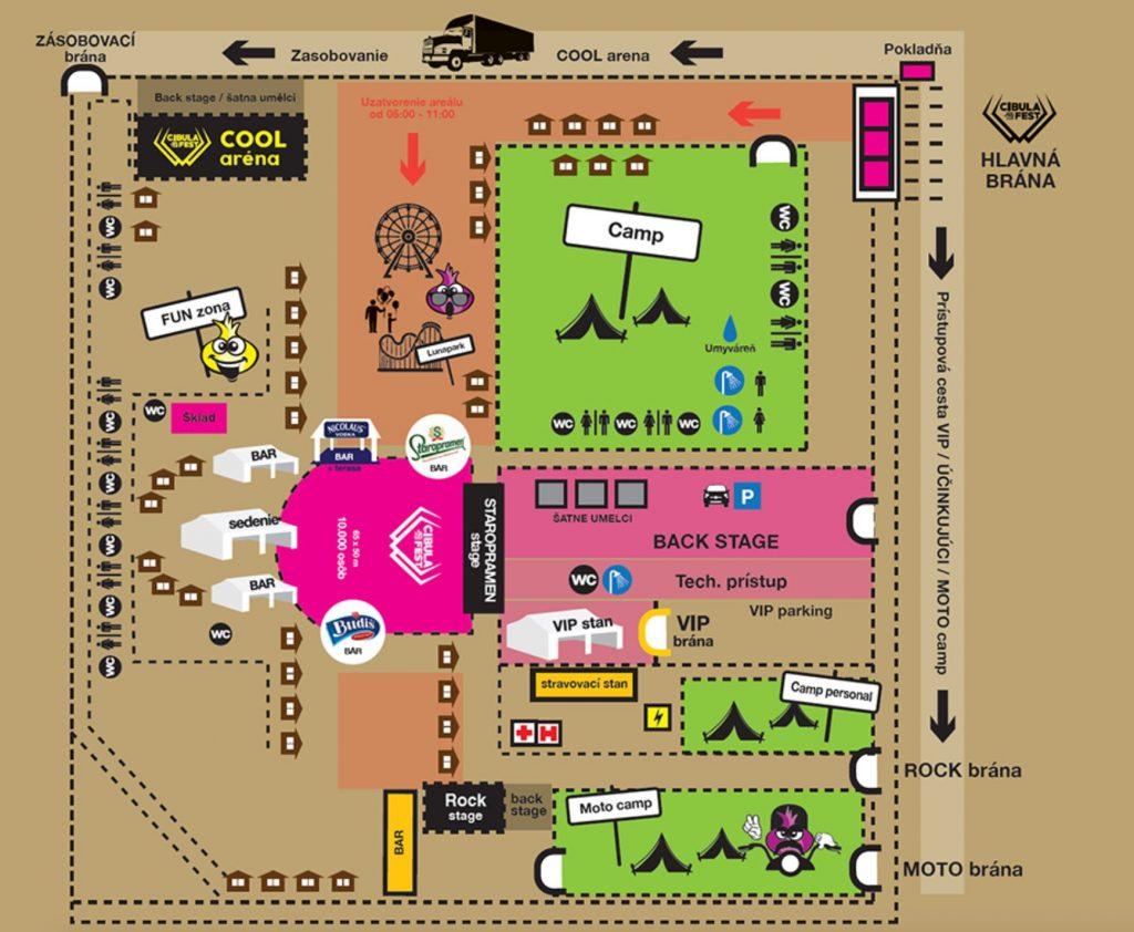 Nová dispozícia festivalu