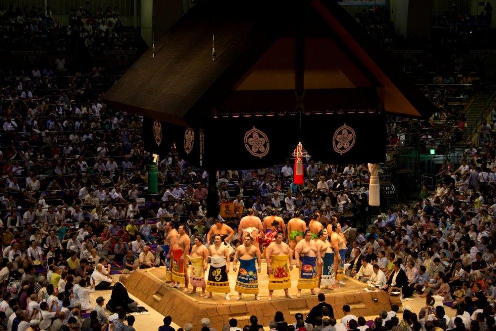 Predstavenie Grand Sumo Turnaj, Nagoya, Japonsko, Peter Ondrias (1)