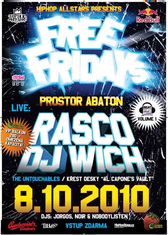 Rasco & Wich, Emdee a spousta dalších jmen na jednom místě? Ano již 8. října v pražském klubu Abaton a to zcela ZDARMA! BOMBING