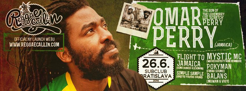 Budúci týždeň príde do Bratislavy syn legendárneho Lee Scratch Perryho, Omar Perry z Jamajky! BOMBING 4