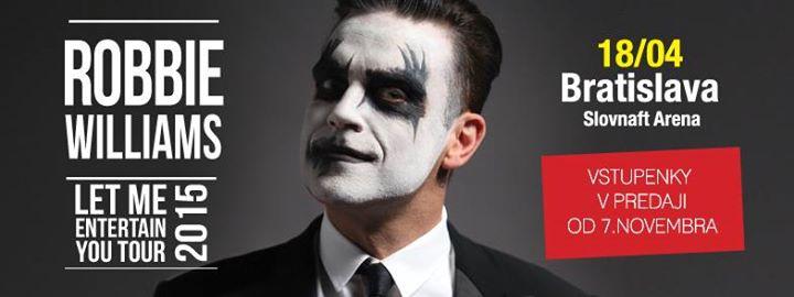 Robbie Williams 18. apríla v Bratislavskej Slovnaft Aréne BOMBING