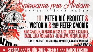 Slovenskí umelci hudbou podporia projekt SPIEVAME PRE MIRIAM BOMBING 8