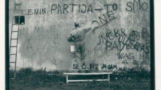 Tomislav Gotovac, Degraffiting, 1990