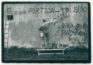 Tomislav Gotovac, Degraffiting, 1990
