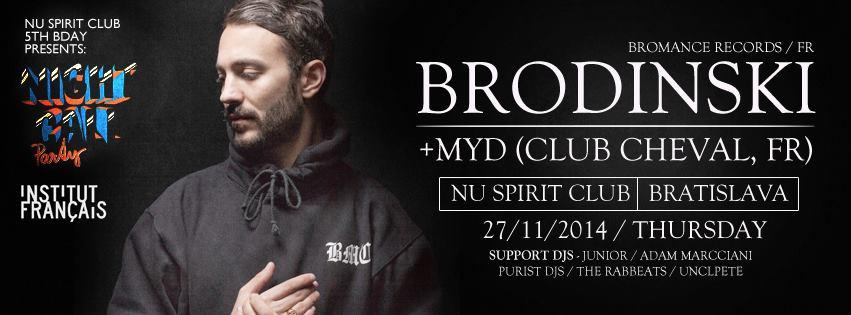 Horúce železo francúzskeho elektra – DJ Brodinski vystúpi 27. novembra v BOMBING
