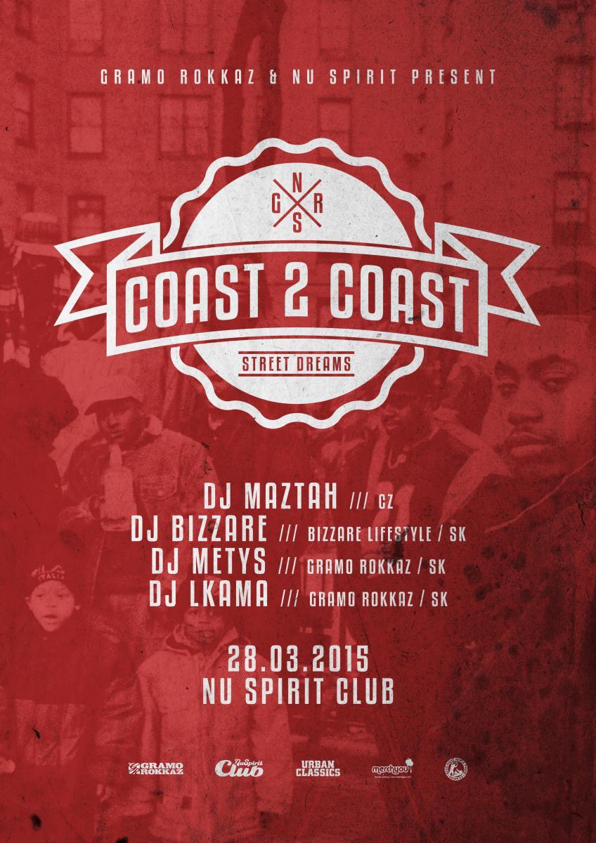 Vypočuj si rapové hymny od djov marcového Coast2Coast BOMBING
