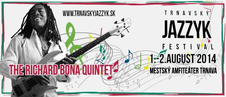 Hviezdou tohtoročného festivalu Trnavský jazzyk bude Richard Bona! BOMBING 1