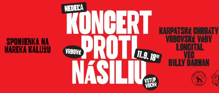 Koncert proti násiliu – spomienka na Mareka Kalužu BOMBING