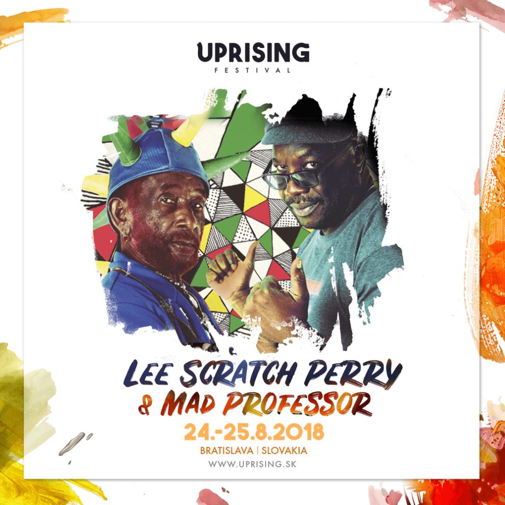 Uprising dopĺňa line-up, do Bratislavy toto leto mieria aj Lee 'Scratch' Perry, Mad Professor či Benny Page BOMBING 2