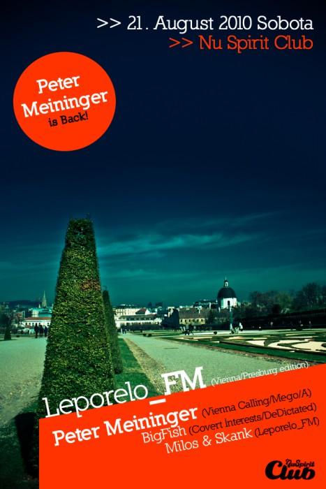 Nu Spirit víkend s DISCO 3000 Toma Wielanda, Leporelo_FM s Petrom Meiningerom BOMBING