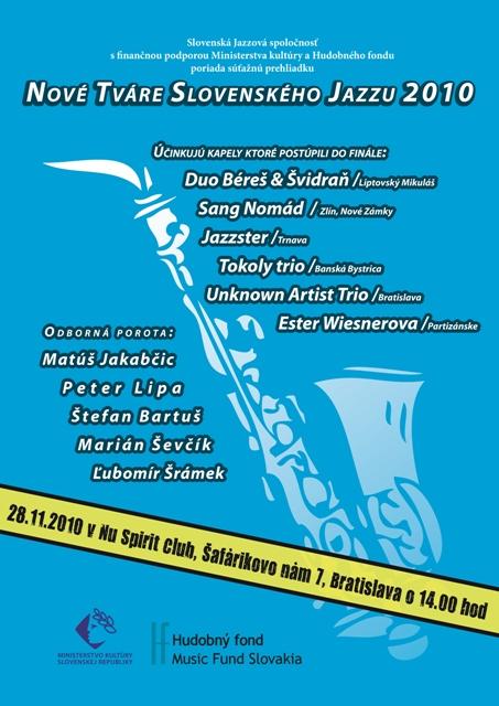 Finále suťaže 28.11.2010 - Nové tváre slovenského jazzu 2010 BOMBING