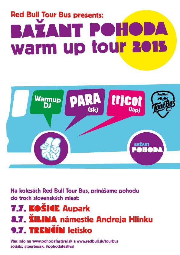 Red Bull Tour Bus dáme do pohybu počas  Bažant Pohoda Warm Up Tour BOMBING