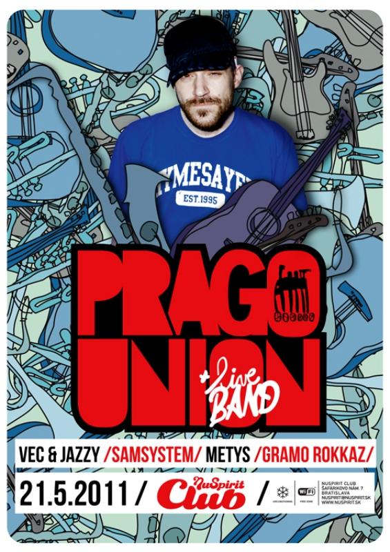 Prago Union Livě Band v Nu Spirit Clube BOMBING