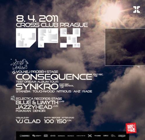 Consequence a Synkro odstartují 8. dubna nový večer Volnej Průběh Crossem BOMBING