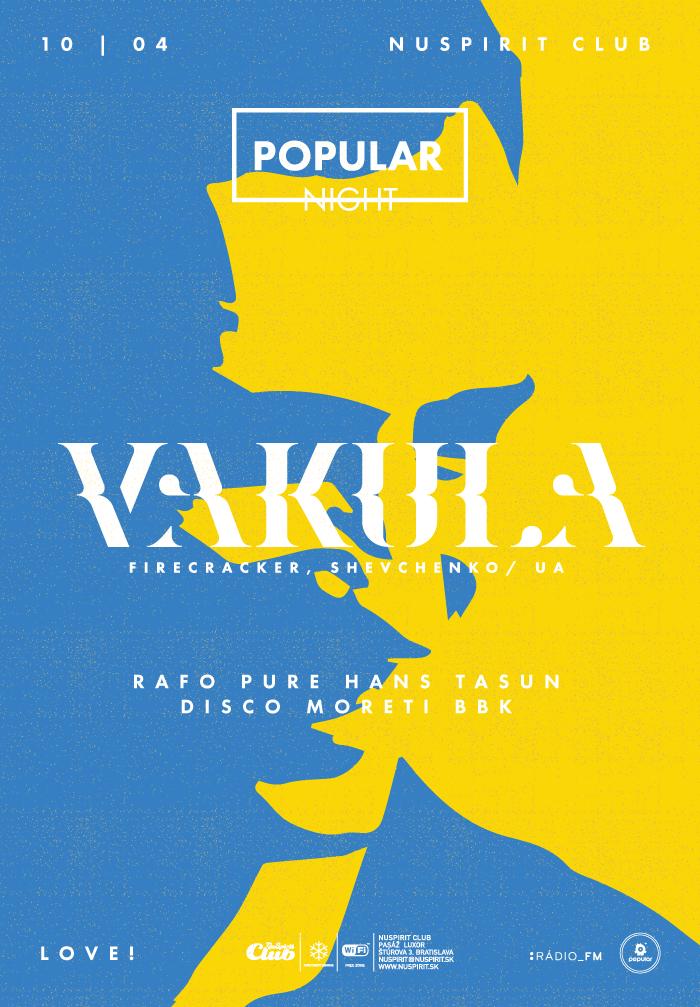 Vakula mieša ako pán! Presvedčte sa už 10. apríla na Popular Night BOMBING